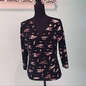🌷3 for $20 Karen Kane surplice front w/sequins